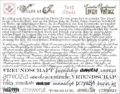 ESSENTIAL BACKGROUNDS - TEXT STYLE Clear Stamp Set from Whiff of Joy