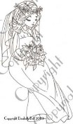 WILLOW SITTING BRIDE Rubber Stamp Elisabeth Bell Willow & Oakley Collection from Whiff of Joy