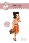 BUSINESS WILLOW Rubber Stamp Elisabeth Bell Willow & Oakley City Girl Collection from Whiff of Joy