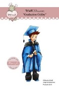 GRADUATION OAKLEY Rubber Stamp Elisabeth Bell Willow & Oakley City Girl Collection from Whiff of Joy
