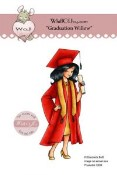 GRADUATION WILLOW Rubber Stamp Elisabeth Bell Willow & Oakley City Girl Collection from Whiff of Joy