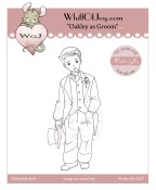 OAKLEY AS GROOM Rubber Stamp Elisabeth Bell Willow & Oakley Collection from Whiff of Joy