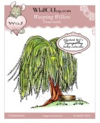 WEEPING WILLOW Rubber Stamp Elisabeth Bell Sympathy Collection from Whiff of Joy
