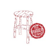 WOODEN STOOL Rubber Stamp from Make It Crafty