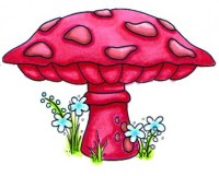 WOODLAND MUSHROOM Swiss Pixies Collection from C.C. Designs