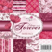 ALWAYS AND FOREVER PAPER PACK 6x6 Scrapbook Patterned Paper from Wild Rose Studio