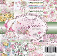 ANNABELLE'S GARDEN 6x6 Scrapbook Patterned Paper Pack from Wild Rose Studio
