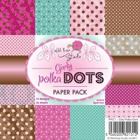 GIRLY POLKA DOTS 6x6 Scrapbook Patterned Paper from Wild Rose Studio