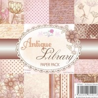 ANTIQUE LIBRARY 6x6 Scrapbook Patterned Paper Pack from Wild Rose Studio