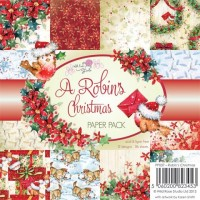 A ROBIN'S CHRISTMAS 6x6 Scrapbook Patterned Paper Pack Annabelle and Antoine Collection from Wild Rose Studio