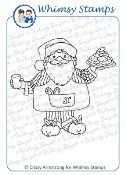 SANTA'S MIDNIGHT SNACK Rubber Stamp Crissy Armstrong Collection from Whimsy Stamps