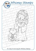 CHRISTMAS CHOIR GIRL Rubber Stamp Crissy Armstrong Collection from Whimsy Stamps