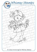 FISTFUL OF FLOWERS Rubber Stamp Crissy Armstrong Collection from Whimsy Stamps