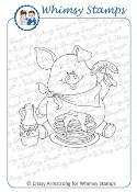FARMER'S BREAKFAST Rubber Stamp Crissy Armstrong Collection from Whimsy Stamps