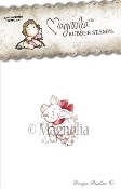 A JOYFUL PIGLET Rubber Stamp Winter Wonderland Collection from Magnolia