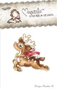 JINGLE BELL RUDOLF Rubber Stamp Winter Wonderland Collection from Magnolia