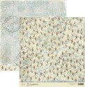 NORTH POLE 12x12 Scrapbook Paper Winter Wonderland Collection from Magnolia