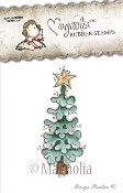 PEACEFUL CHRISTMAS TREE Rubber Stamp Winter Wonderland Collection from Magnolia