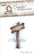 SHOW THE WAY SIGN Rubber Stamp Winter Wonderland Collection from Magnolia