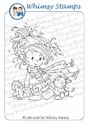 WINTER FRIENDS Rubber Stamp Wee Stamps Collection from Whimsy Stamps