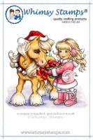 CHRISTMAS PONY Rubber Stamp Crissy Armstrong Collection from Whimsy Stamps